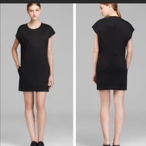 Helmut Lang Black T Shirt Dress w Pockets